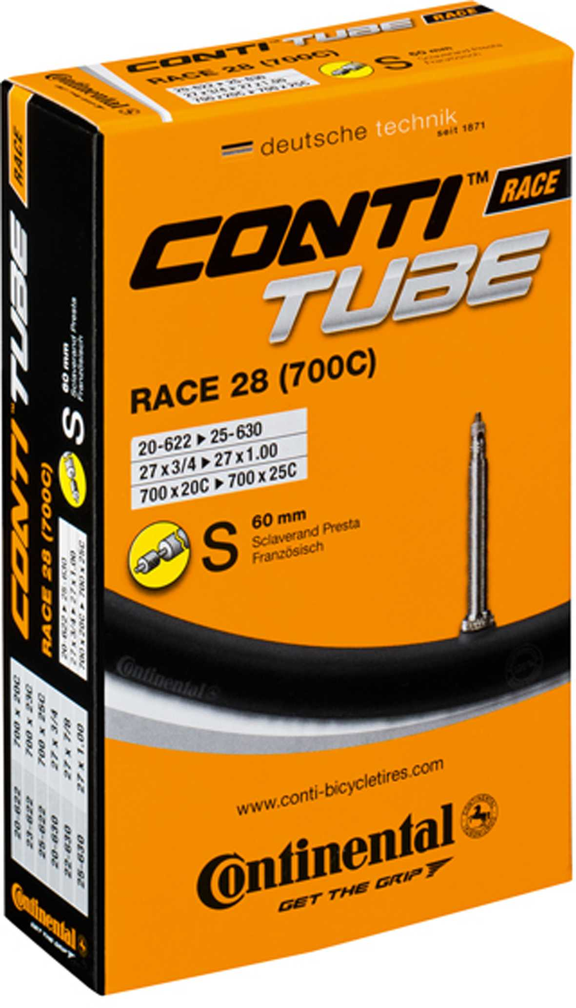 Continental Race Tube - Presta 700 x 20-25c (42mm Valve)