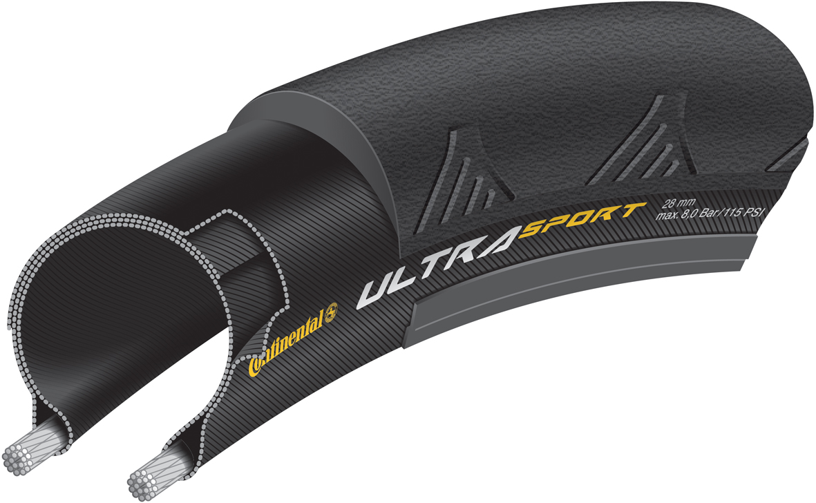 Continental Ultra Sport II Folding Tyre - 700c x 25mm