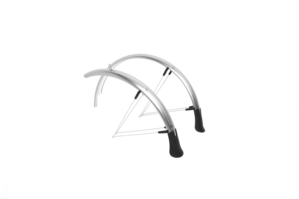 M:Part Primoplastic Urban Mudguard Set - 700c x 55mm - Pewter