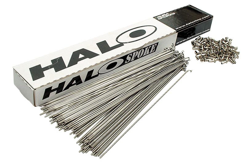 Halo Plain Gauge 185mm Spoke with Nipple - Silver