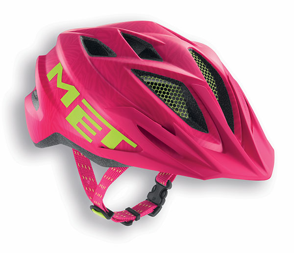 MET Crackerjack 2018 Youth Helmet - One Size (52-57cm) - Pink/Green