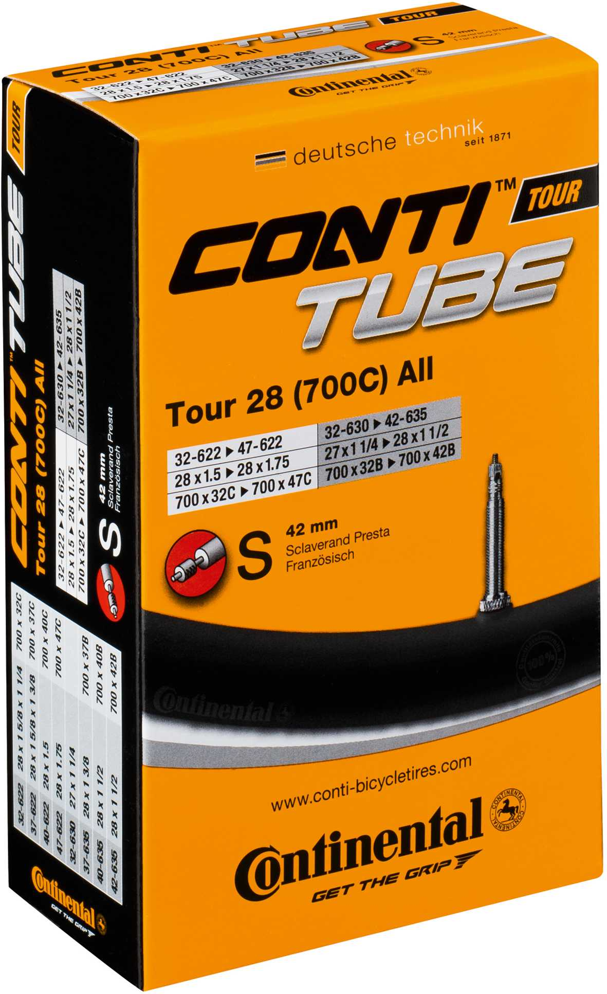 Continental Tour Tube - Schrader 26 x 1.3-1.75