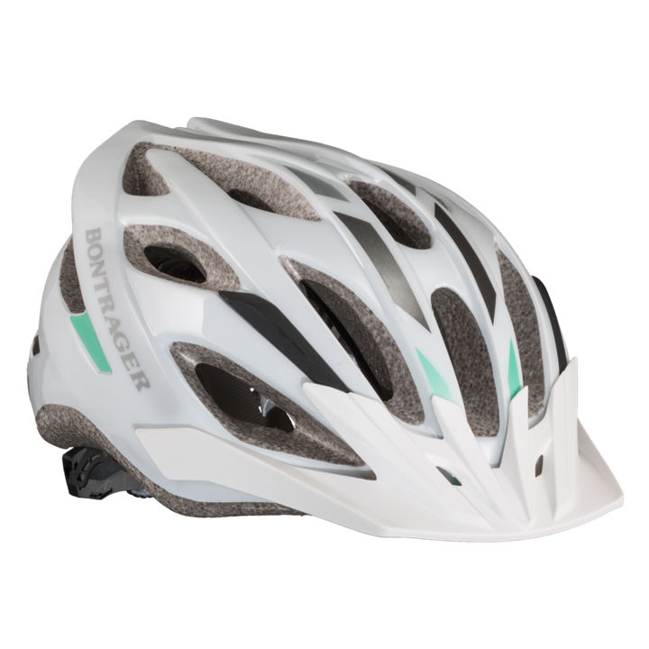 Bontrager Solstice MTB Helmet - Small/Medium (50-57cm) - White/Green/Charcoal