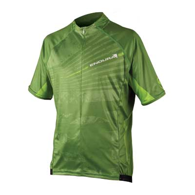 Endura Hummvee Ray Mens Short Sleeve Jersey - Kelly Green
