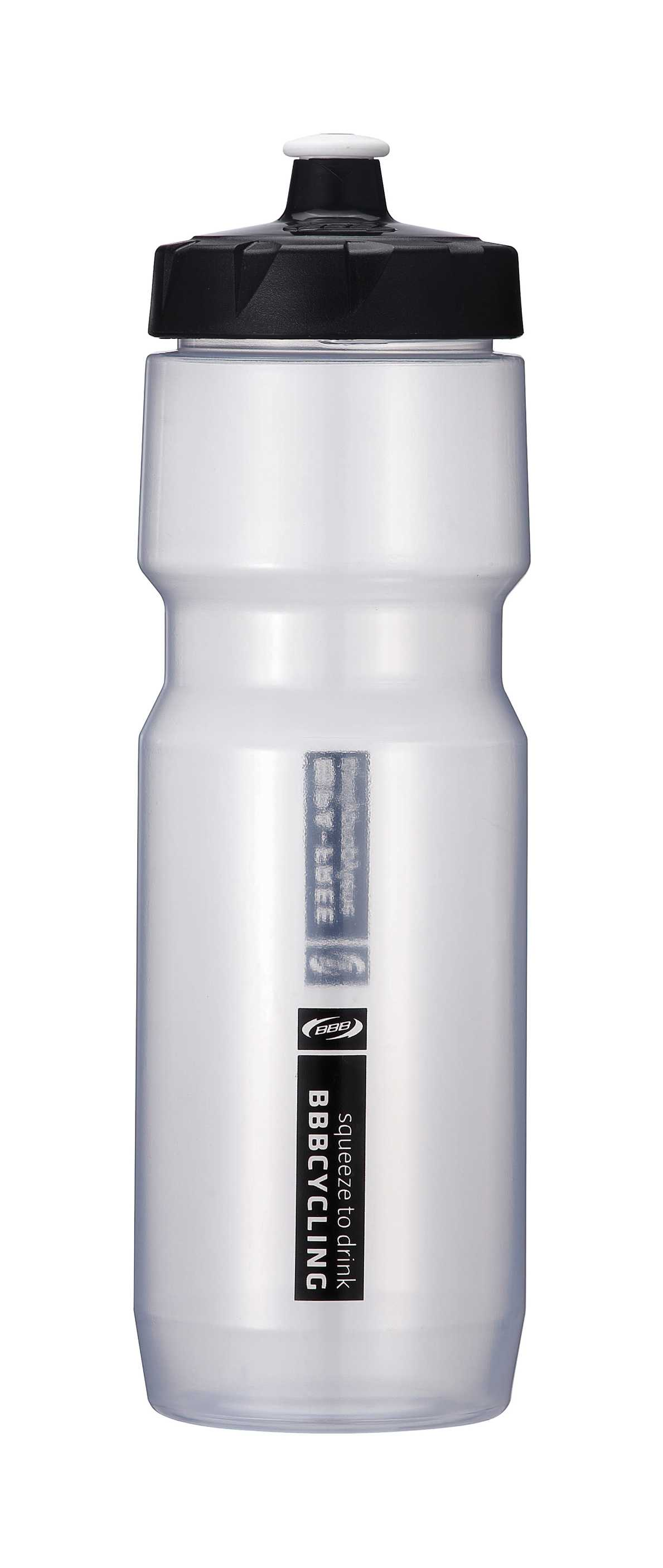 BBB Comptank XL Water Bottle 750ml - Clear/Black