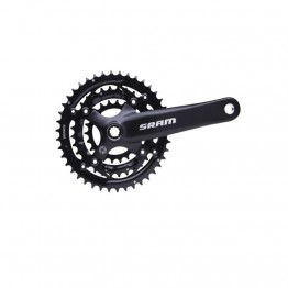 SRAM S600 8 Speed 42/32/22 Square Taper 175mm Chainset - Blast Black