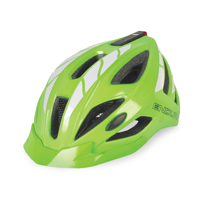 Endura Luminite Helmet - Small/Medium (51-56cm) - Hi-Viz Green