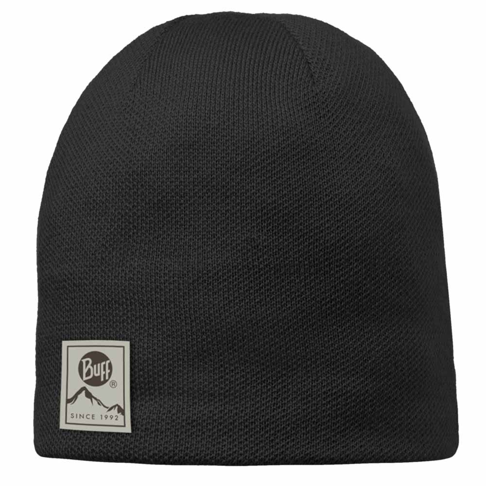 Buff Knitted Polar Hat - Solid Black
