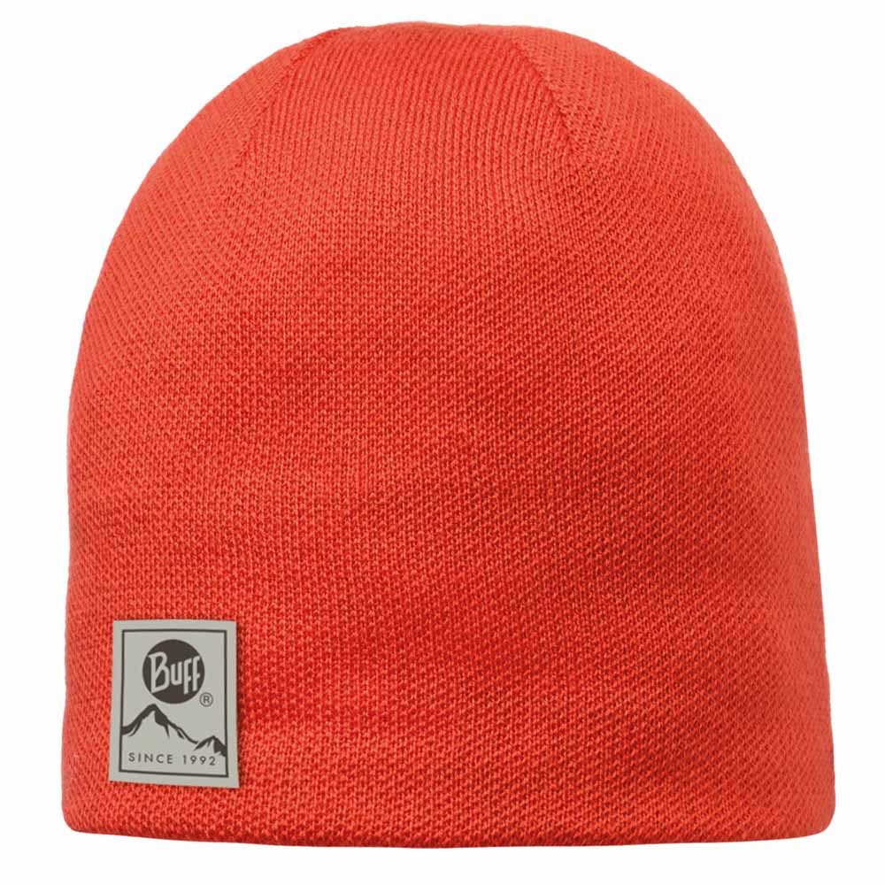 Buff Knitted Polar Hat - Solid Orange