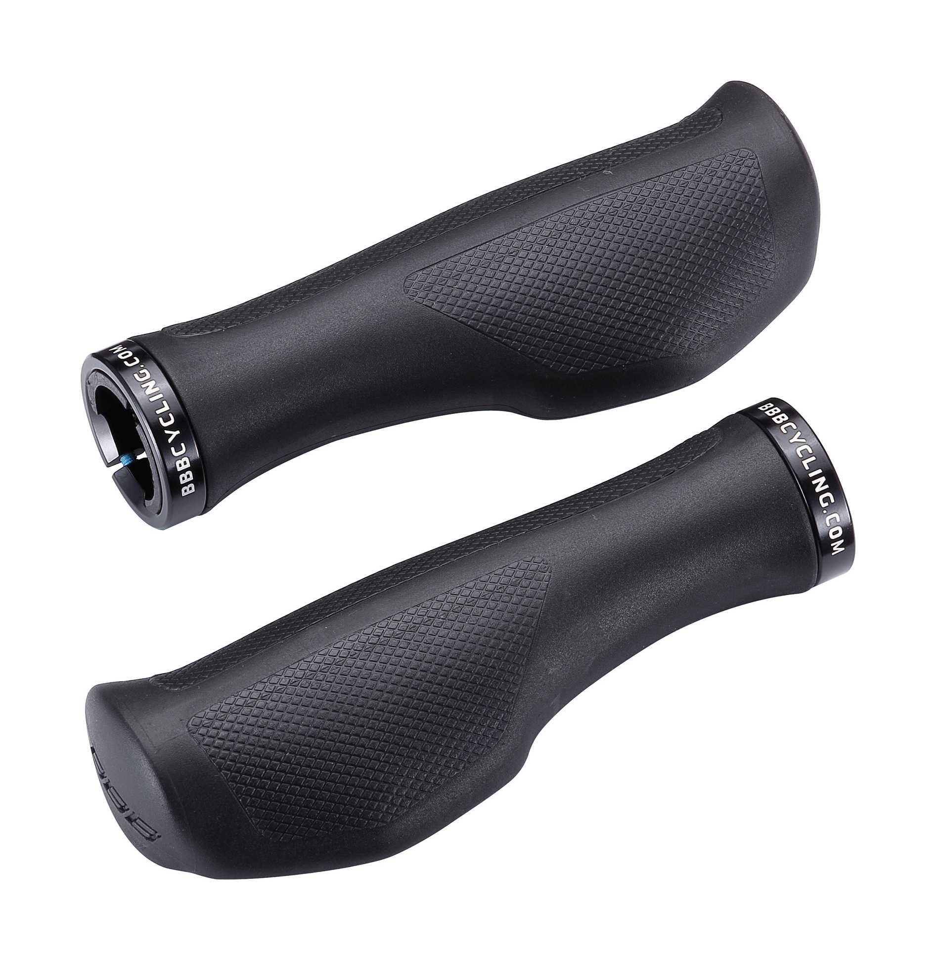 BBB Ergofix Lock-On Ergo Grips 133mm - Black