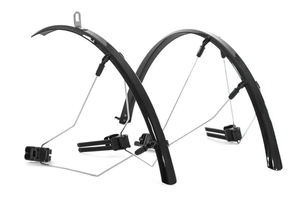 Raleigh Rain Blades Mudguard Set - 700c x 30mm - Black