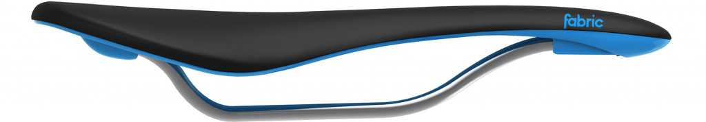 Fabric Scoop Flat Elite Mens Saddle - Black/Blue
