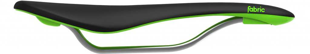 Fabric Scoop Flat Elite Mens Saddle - Black/Green