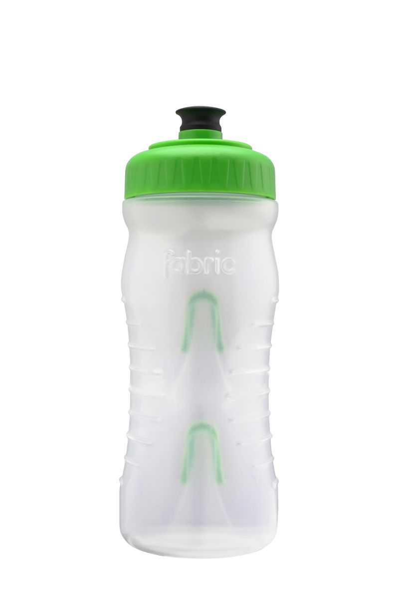 Fabric Cageless Water Bottle 600ml - Clear/Green