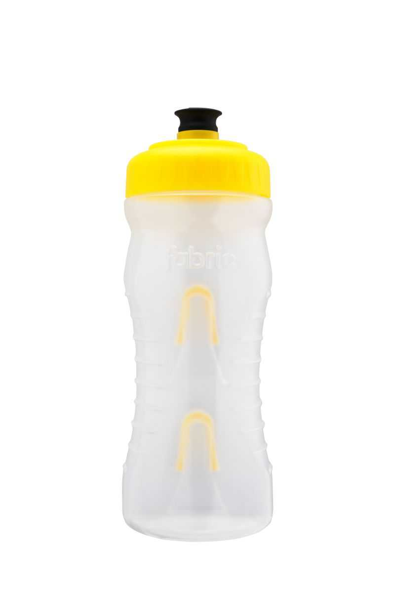Fabric Cageless Water Bottle 600ml - Clear/Yellow