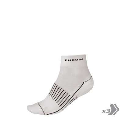 Endura Coolmax Race II Socks (Triple Pack) - Small/Medium - White