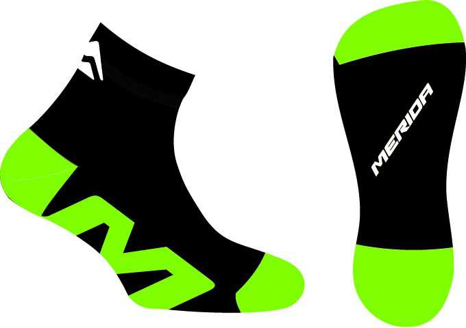 Merida Socks - Medium - Black/Green