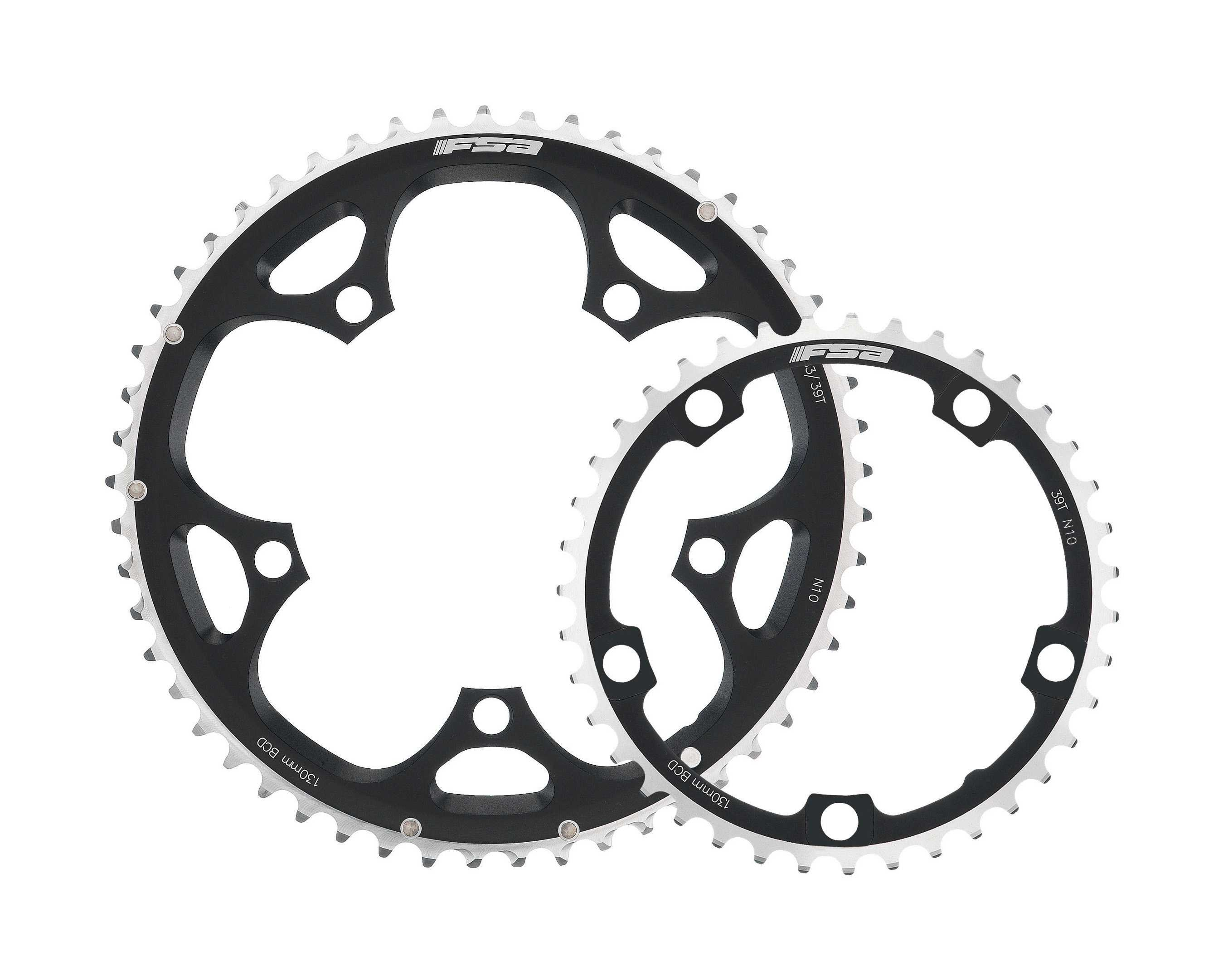 FSA Pro Road 11 Speed Double 50 Tooth 110BCD Chainring - Black