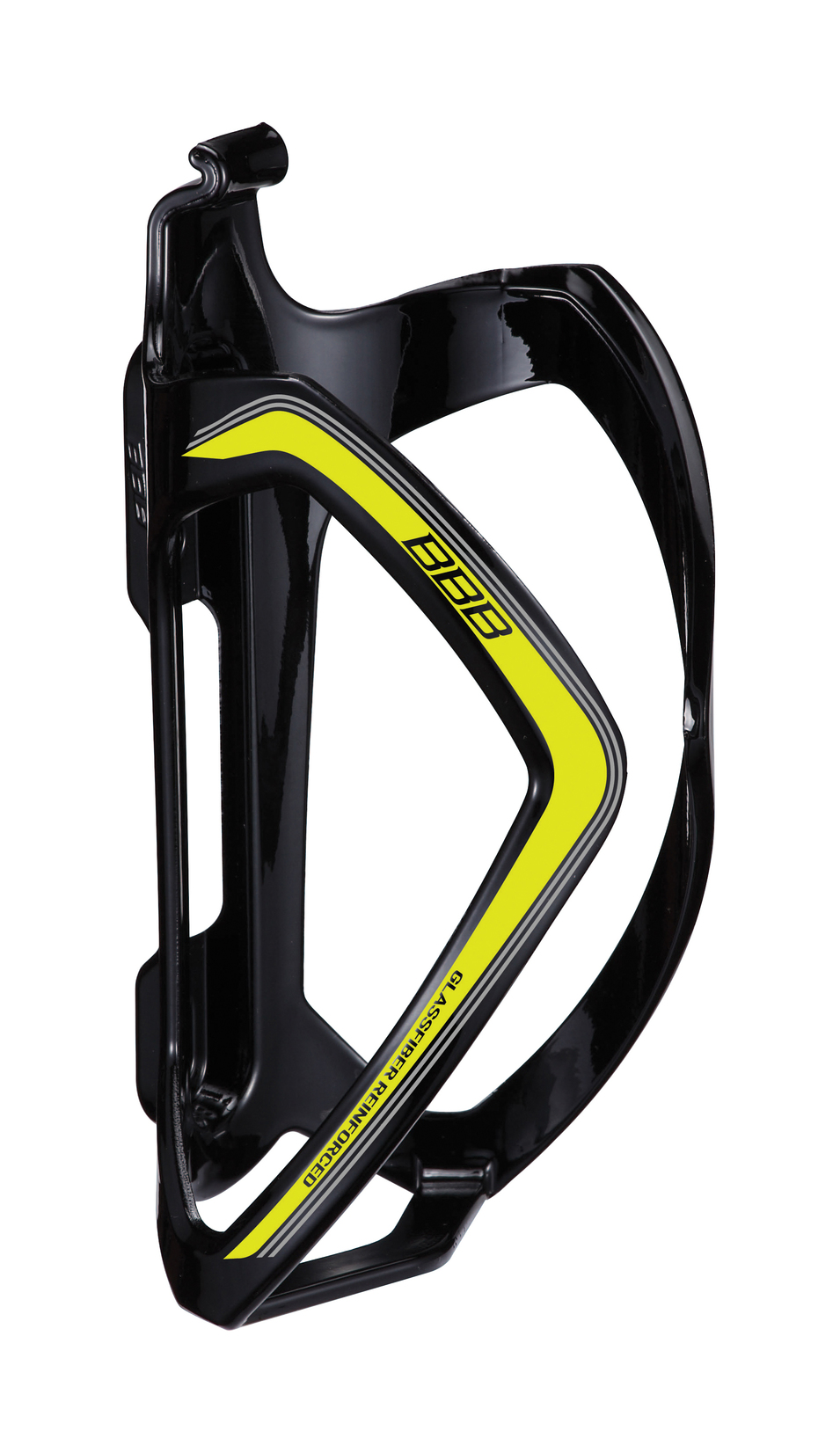 BBB Flexcage Composite Bottle Cage - Gloss Black/Yellow