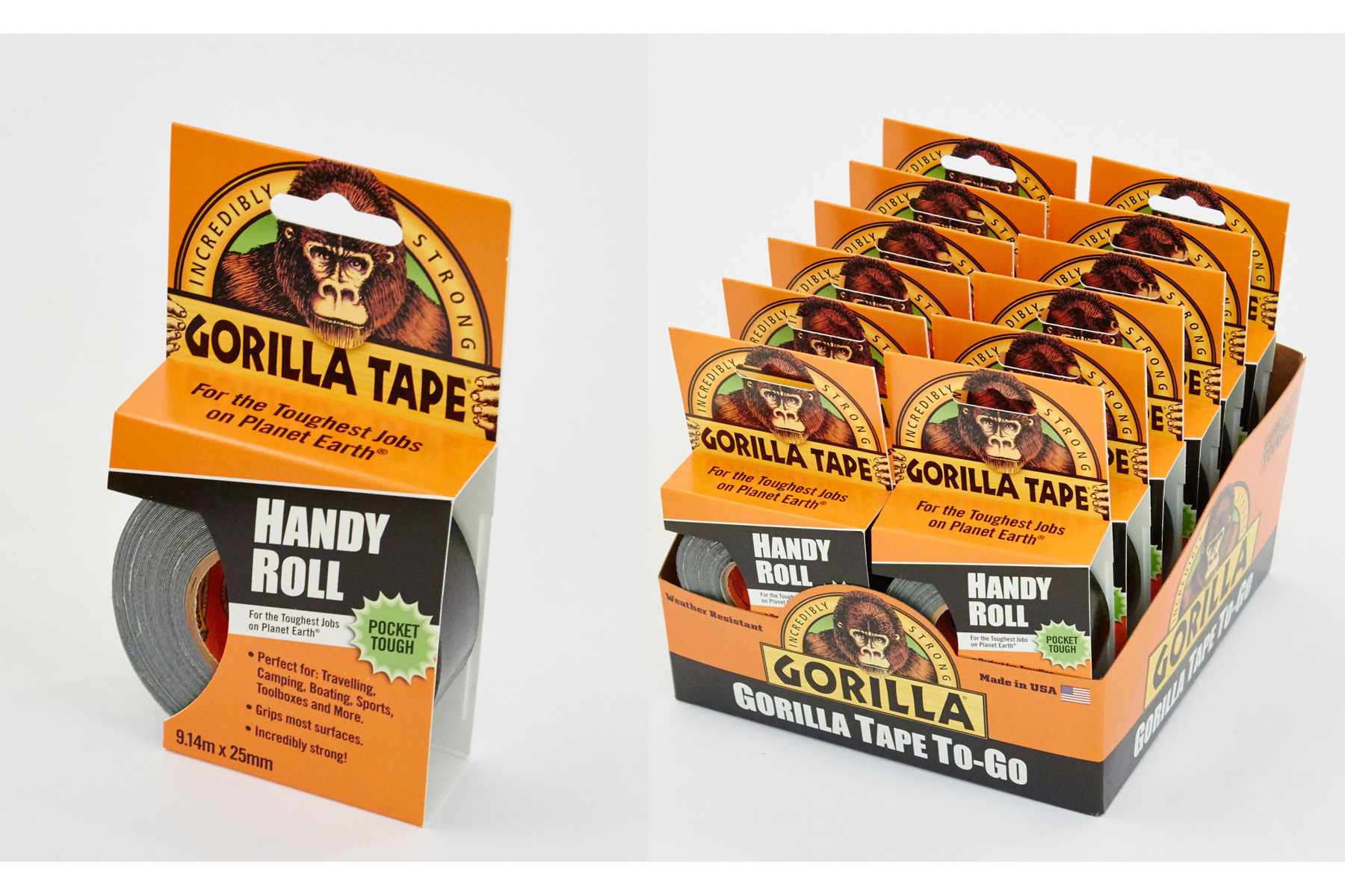 Gorilla Tape 25mm x 9.1m - Black