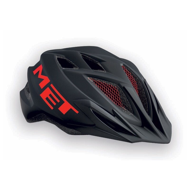 MET Crackerjack 2018 Youth Helmet - One Size (52-57cm) - Black/Red