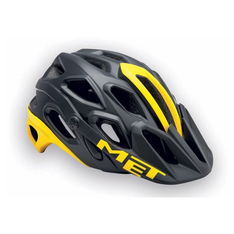 MET Lupo 2017 MTB Helmet - Medium (54-58cm) - Black/Yellow