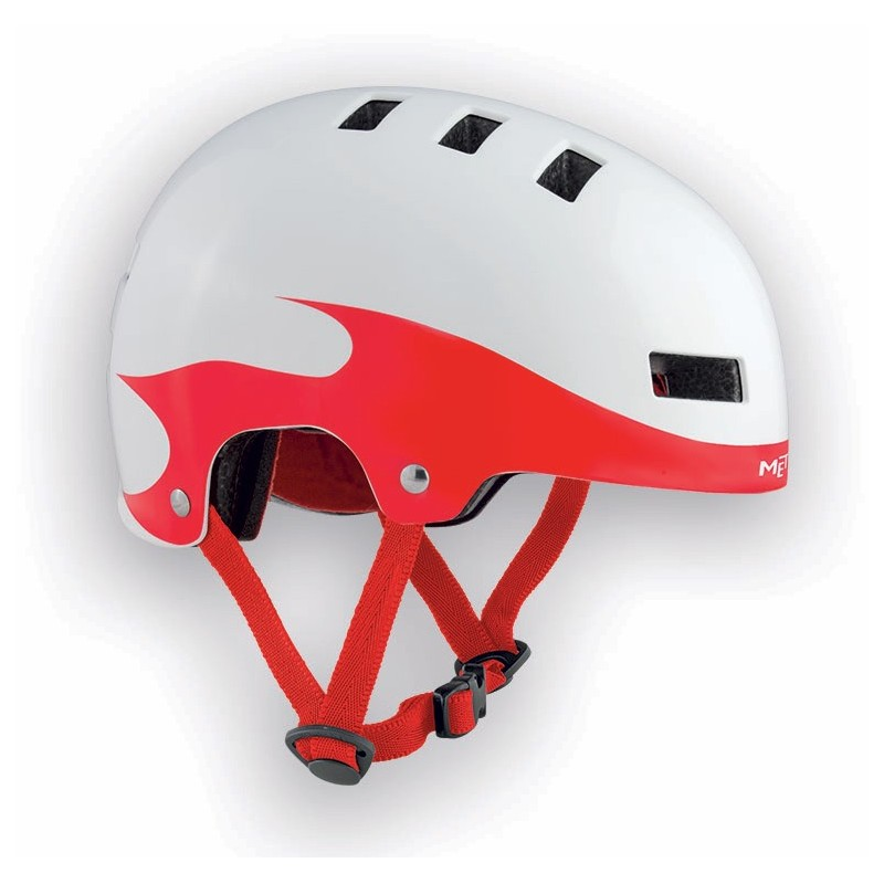MET Yo-Yo 2017 Kids Helmet - Small (51-55cm) - White/Red