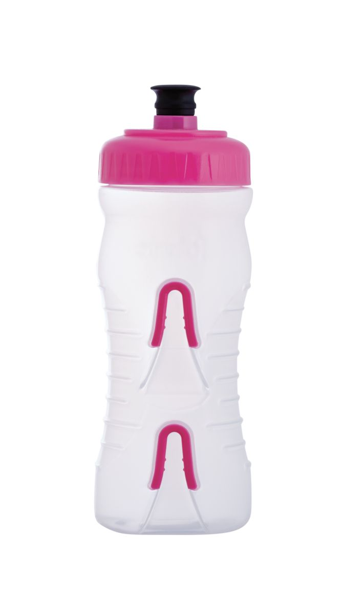 Fabric Cageless Water Bottle 600ml - Clear/Pink