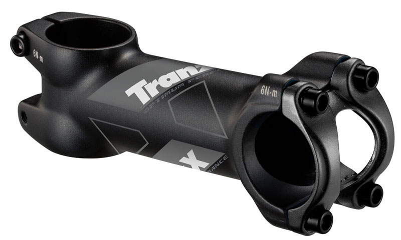Tranz X Alloy Stem 60mm x 6° for 31.8mm Bars - Matt Black
