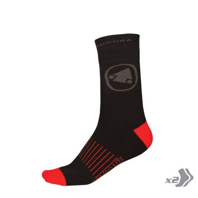 Endura Thermolite II Socks (Twin pack) - Small/Medium - Black