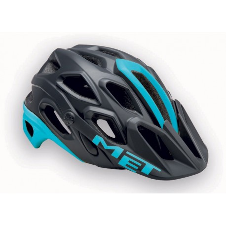 MET Lupo 2017 MTB Helmet - Medium (54-58cm) - Black/Blue