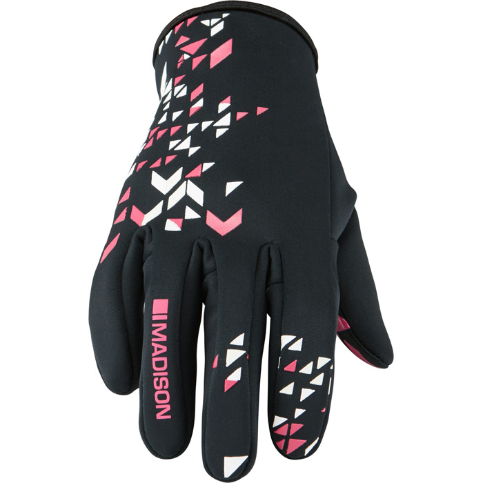 Madison Element Youth Softshell Gloves - Small - Pink Glo