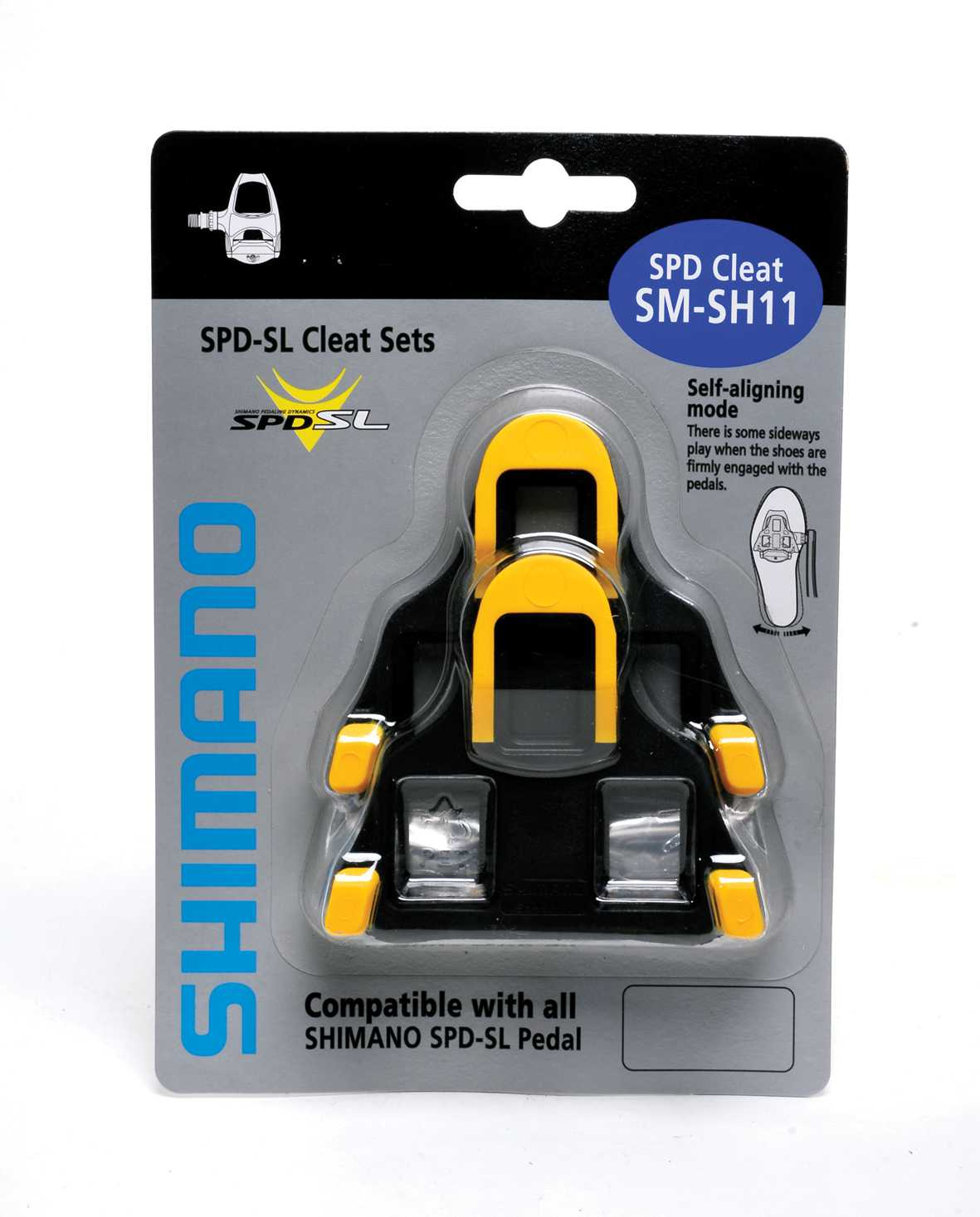 Shimano SPD SL Cleats with 6° Float - Yellow
