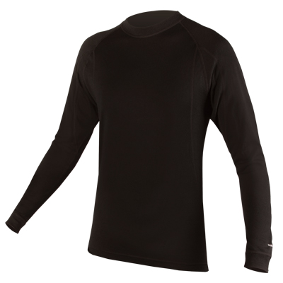 Endura BaaBaa Merino Mens Long Sleeve Base Layer - Small - Black