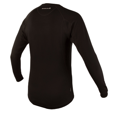 Endura BaaBaa Merino Mens Long Sleeve Base Layer - Large - Black