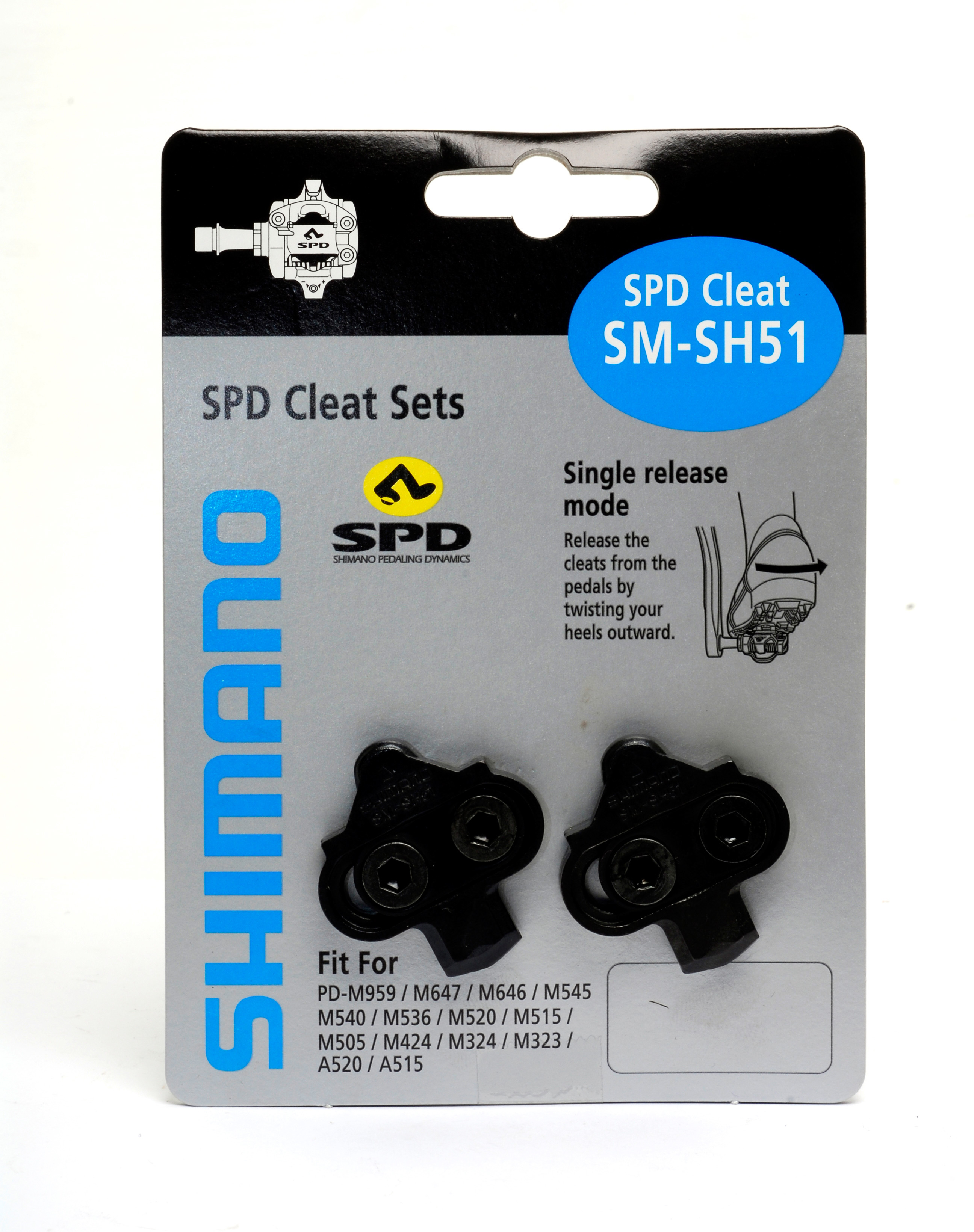 Shimano SPD MTB Cleats Single Release - Black