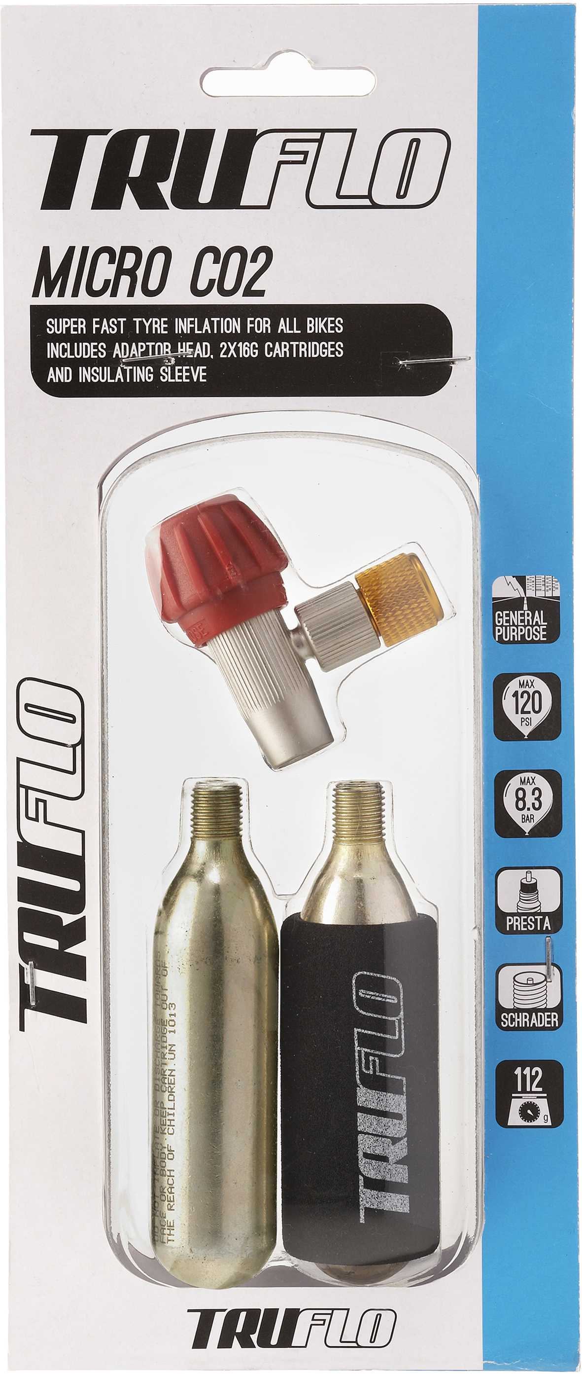 Truflo Micro C02 Inflator with 2 Cartridges
