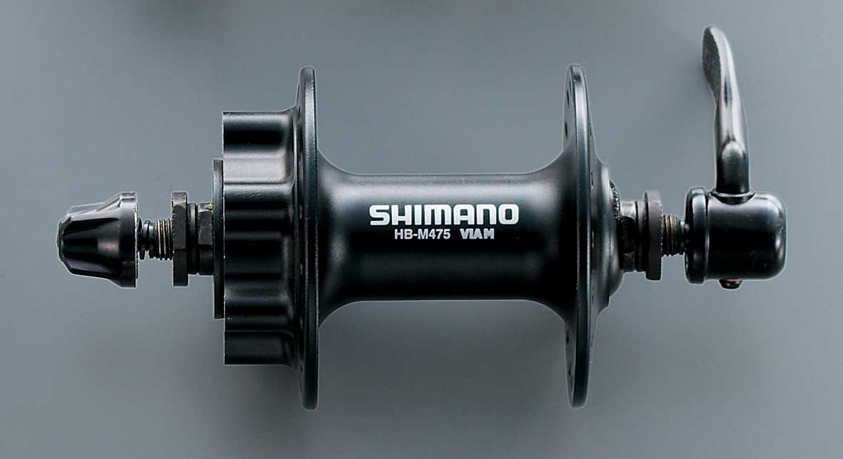 Shimano M475 32 Hole 6 Bolt Front Hub - Black