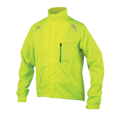 Endura Gridlock II Mens Waterproof Jacket - Large - Hi-Viz Yellow
