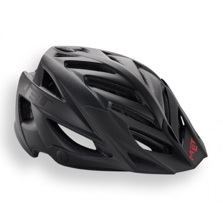 MET Terra 2018 MTB Helmet - One Size (54-61cm) - Matt Black/Red