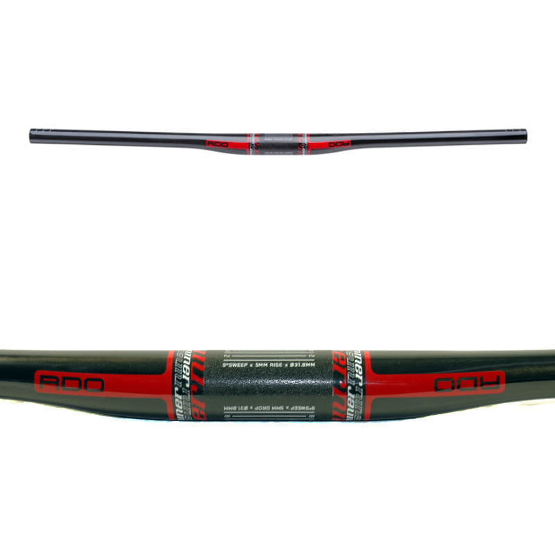 Niner RDO Flat Top Carbon Bars 31.8mm Clamp - Red