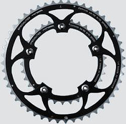 TA Specialites Zephyr 9/10 Speed Double 42 Tooth 110PCD Chainring - Black