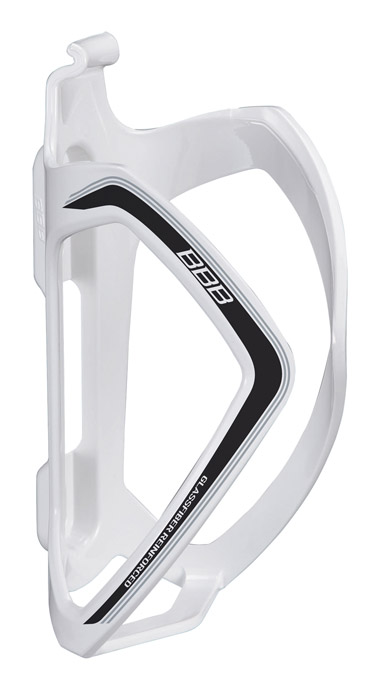 BBB Flexcage Composite Bottle Cage - Gloss White/Black