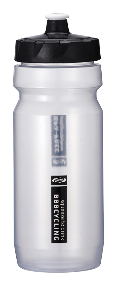 BBB Comptank Water Bottle 550ml - Clear/Black