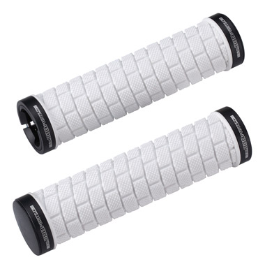 BBB Dualfix Dual Lock-On Grips 128mm - White