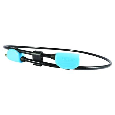 Hiplok Pop Wearable Cable Lock 1.3m x 10mm - Cyan
