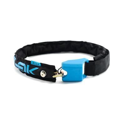 Hiplok Lite Wearable Chain Lock (Bronze Sold Secure) 75cm x 6mm - Black/Cyan