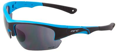 NRC S4 Sunglasses - Matt Black/Fluo Matt Blue