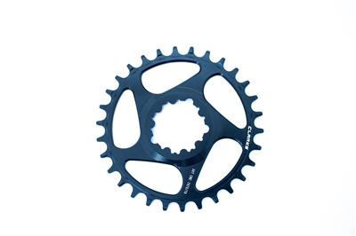 Clarks Narrow Wide Direct Mount Chainring - 34 Tooth - Blue
