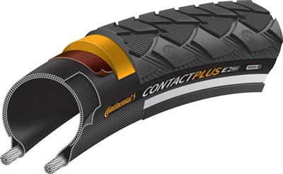 Continental Contact Plus Reflective Wire Bead Tyre - 700c x 37mm